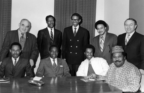 (7391) Local 73, African labor leaders, AFL-CIO African American Labor Center, Chicago 1971