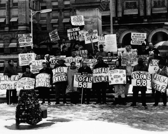 (7518) Ohio unionists demonstrate