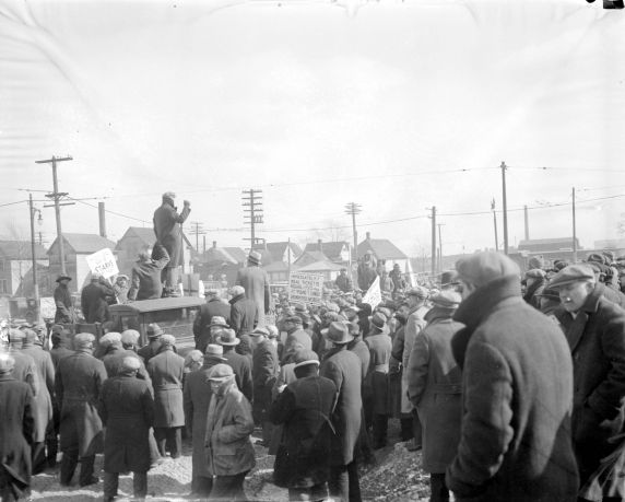 (DN_76441) Ford Hunger March, Marchers en route, 1932