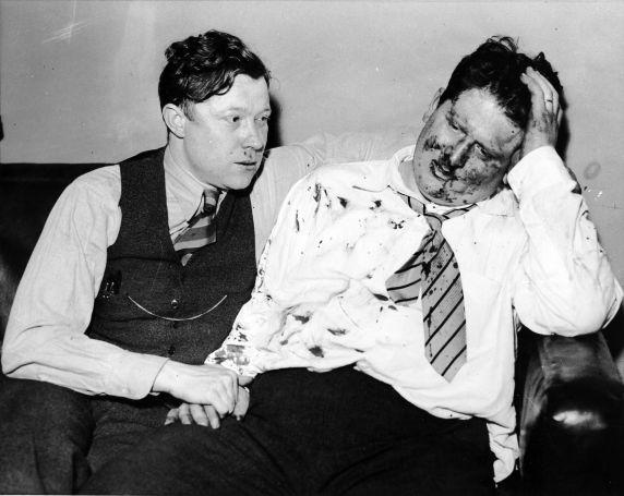 (8763) UAW Organizing, Violence, Reuther, Frankensteen, Dearborn, 1937