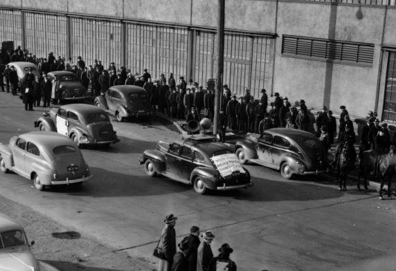 (8787) 1941 Ford Strike, NAACP, sound car, Dearborn, Michigan