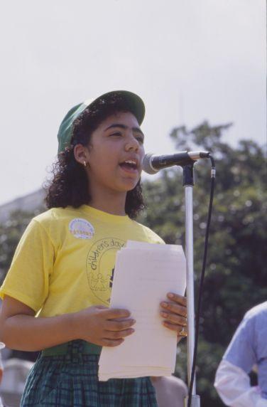 (36005) AFSCME, Children's Day on the Hill speaker, 1989