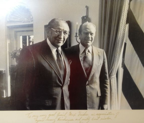 Max M. Fisher and Gerald R. Ford