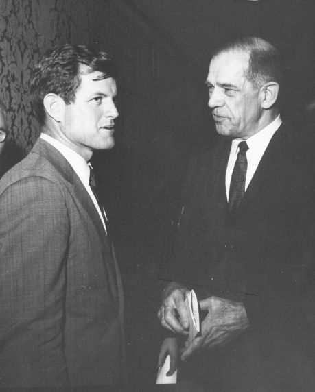 (7467) AFSCME President Arnold Zander and Senator Ted Kennedy