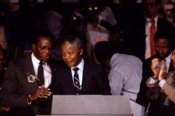 (11989) Mandela at AFSCME Convention
