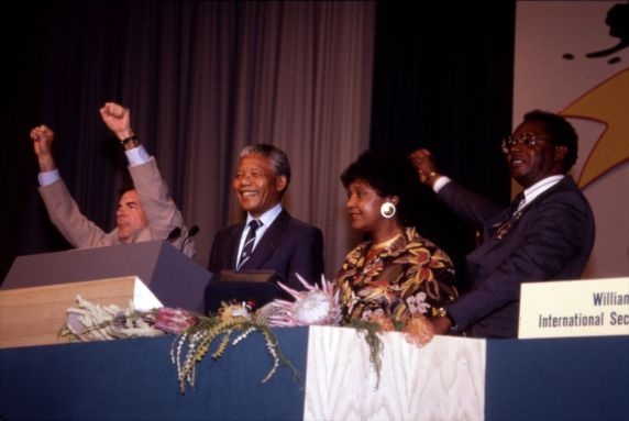 (11988) Mandela at AFSCME Convention