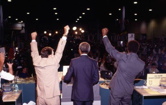 (11991) Mandela at AFSCME Convention