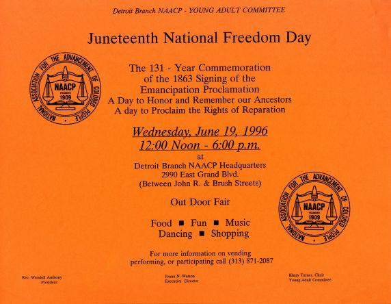 Juneteenth Celebration flyer
