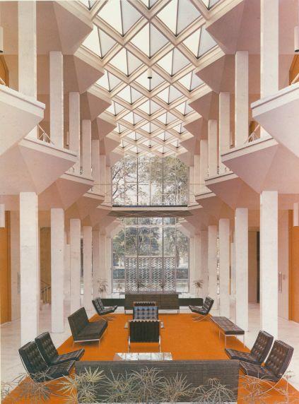 McGregor Memorial Conference Center Interior, 1968