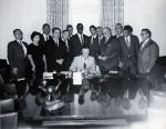 (25543) George Romney signs collective bargaining law