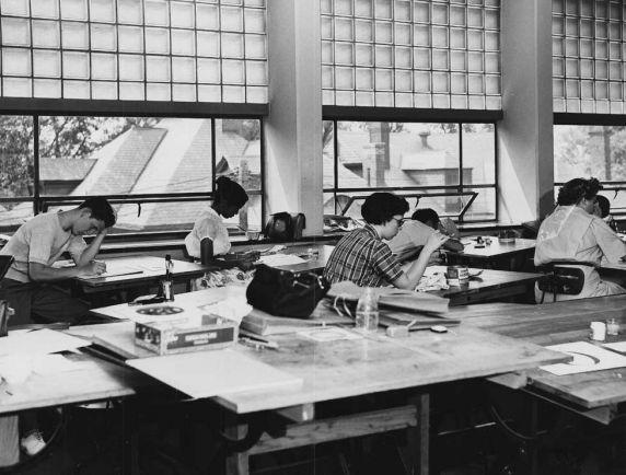State Hall, classroom, Detroit, Michigan