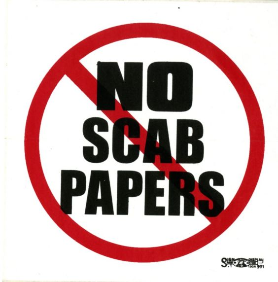 No Scab Papers