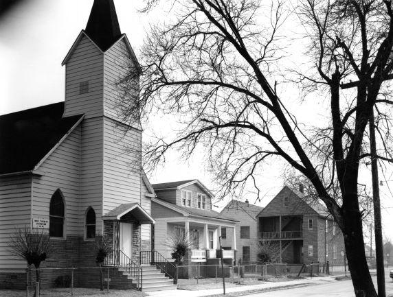 (WSAV002727_021) Poletown, Street Views, Churches, 1981