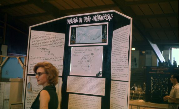 """Walter P. Reuther Library (30977) """"Keeping in Orbit--Mathematically"""" JETS exhibit, 1964"""