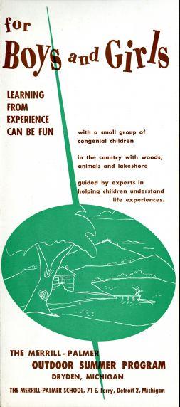 The Merrill-Palmer Outdoor Summer Program, Dryden, MI, brochure