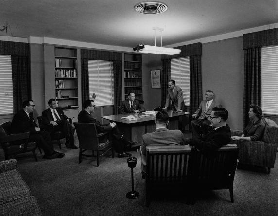 (9972) Staff meet with President Zander