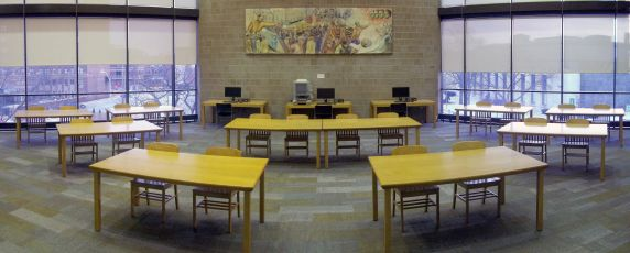 (32644) Walter P. Reuther Library Reading Room Panorama, 2015