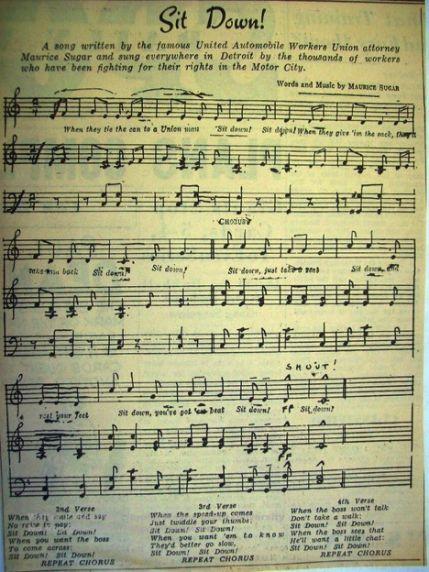 """(34279) """"Sit Down"""" sheet music"""