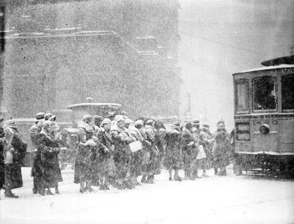 Winter Scenes, Downtown Detroit, 1932